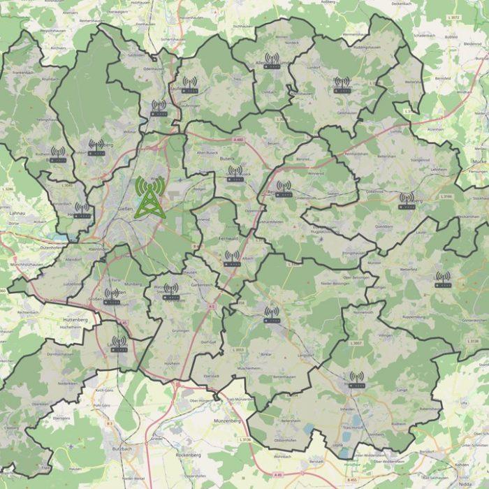 Karte LK Gießen